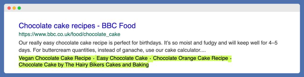 Alternative keywords suggested by Google