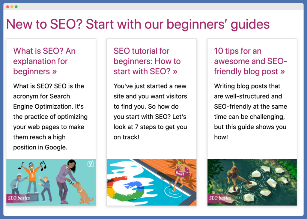 Example of Yoast SEO crypto keyword blog and their related blogs