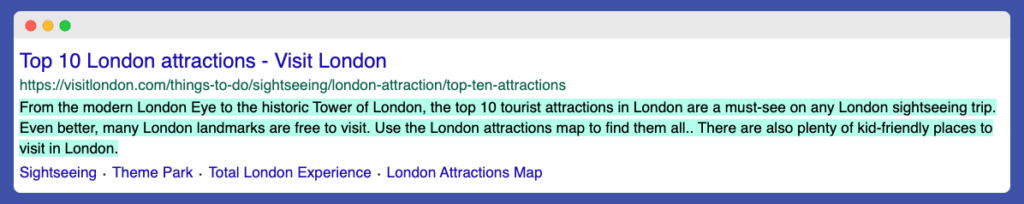 London Tourist attractions