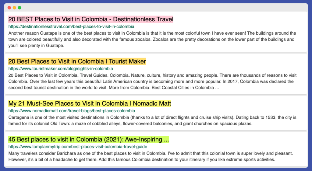 Types of travel articles, listicles examples
